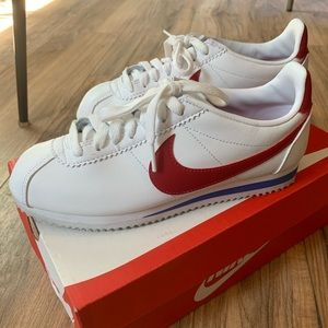 Nike women's Cortez white/red/blue sneakers